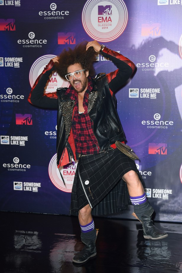 Donning plaid-on-plaid, Redfoo opted for a kilt for MTV's big night.