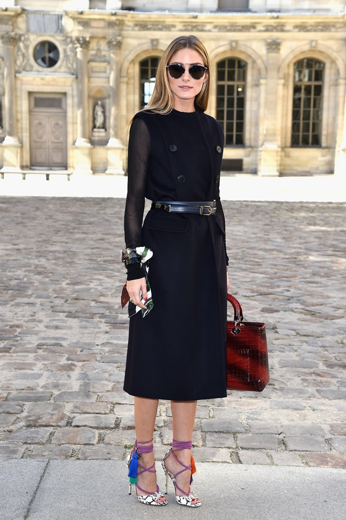<strong>Name: </strong> Olivia Palermo <br/> <strong>Occupation: </strong>The 28-year-old American style icon is a model, socialite, blogger, actress and wife to her equally stylish husband Johannes Huebl. <br/> <strong>Instagram followers:</strong> 1,681,334 <br/> <strong>Her style and inspirational tricks:</strong> Palermo's effortless elegance gives her a perfectly polished exterior. Her go-to style tricks are a great pair of jeans, high heels and a jacket thrown over the shoulders.