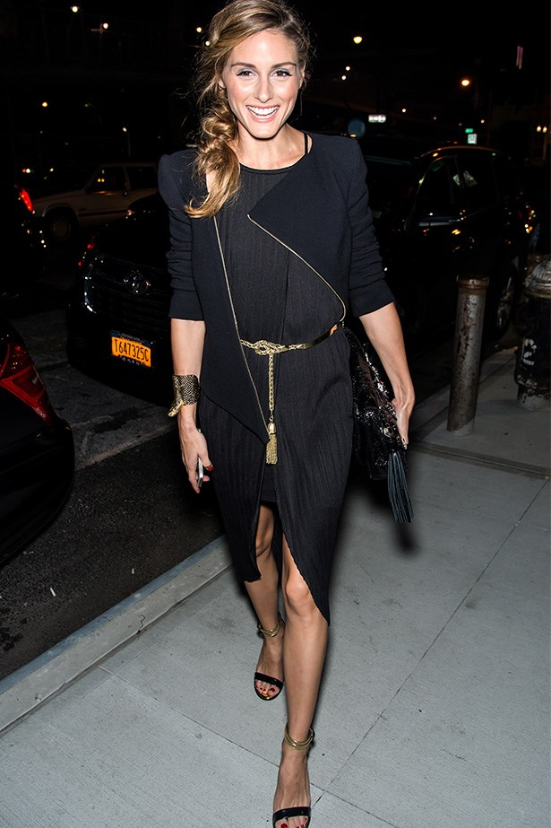 All black everything with a hint of gold? Enough said. Olivia Palermo looks nothing short of chic.