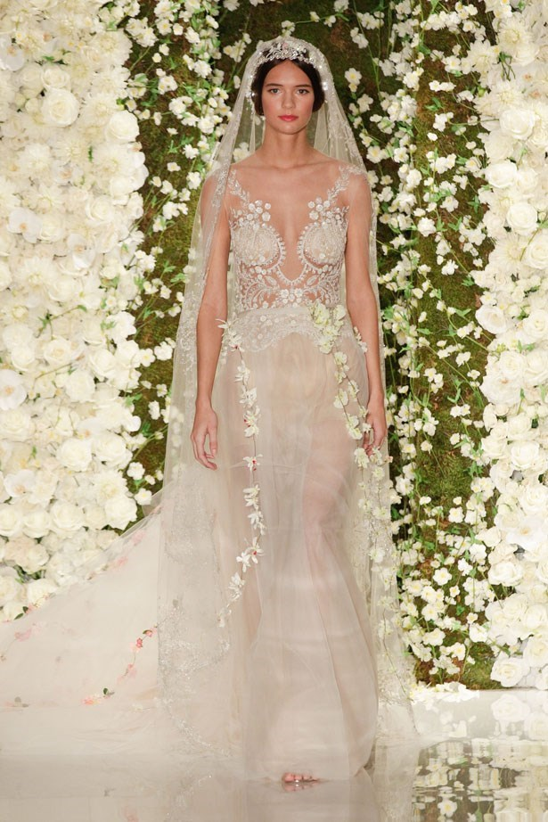 Let's give the paparazzi what they want. <br><br> Reem Acra bridal fashion week AW15