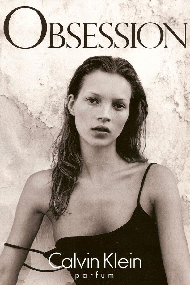 Kate Moss was only 19 when she fronted the 1993 <em>Obsession</em> campaign.