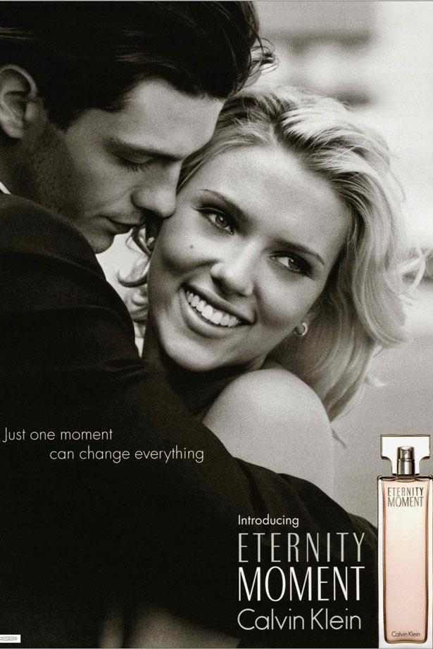 Scarlett Johansson, then 20, became the face of <em>Eternity Moment</em> in 2004.