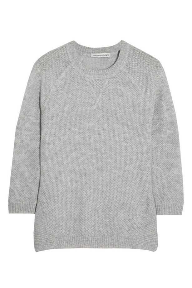 "Sweater, approx $187, Autumn Cashmere at The Outnet, <a href=""http://www.theoutnet.com/en-AU/product/Autumn-Cashmere/Honeycomb-knit-cashmere-sweater/530576"">theoutnet.com</a>"