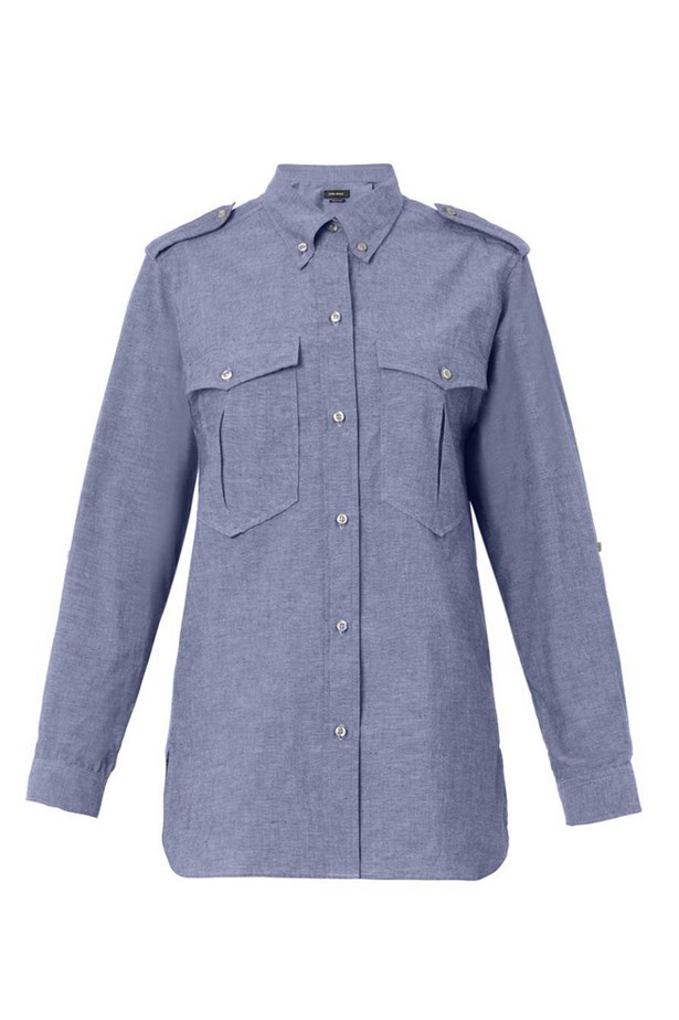 "Shirt, $440, Isabel Marant at Matches Fashion, <a href=""http://www.matchesfashion.com/product/203273"">matchesfashion.com</a>"