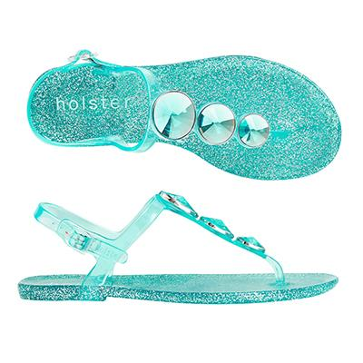 """<p/><p/><strong>Starlight - Clear Capri Glitter</strong> <p/><p/>Turn heads in our new Starlight jelly featuring a striking set of bold satellite jewels. <p/><p/>Each jewel colour in the range has been teamed with a perfectly matching glitter infused insole that will ensure you are sparkling in the sunlight and shimmering under the moonlight. <p/><p/> <a href=""""http://www.holsterfashion.com/hst133-starlight-clear-smoke-glitter-p-12962.html"""">Shop this style at holster fashion.</a>"""