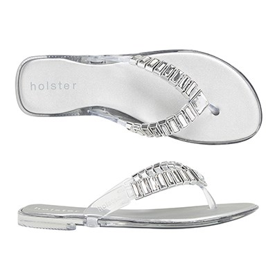 "<p/><p/><strong>Heaven - Clear</strong> <p/><p/>Paradise awaits you in our new Heaven Jelly. <p/><p/>Featuring foam insoles for maximum all-day comfort and adorned with chic rectangular jewels, you will be stepping out in confidence in this chic new style. <p/><p/>Available in a range of neutral colours, this style will take you anywhere. <p/><p/> <a href=""http://www.holsterfashion.com/hst144-heaven-clear-graphite-p-13171.html"">Shop this style at holster fashion.</a>"