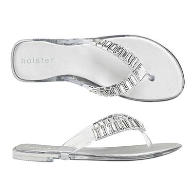 """<p/><p/><strong>Heaven - Clear</strong> <p/><p/>Paradise awaits you in our new Heaven Jelly. <p/><p/>Featuring foam insoles for maximum all-day comfort and adorned with chic rectangular jewels, you will be stepping out in confidence in this chic new style. <p/><p/>Available in a range of neutral colours, this style will take you anywhere. <p/><p/> <a href=""""http://www.holsterfashion.com/hst144-heaven-clear-graphite-p-13171.html"""">Shop this style at holster fashion.</a>"""
