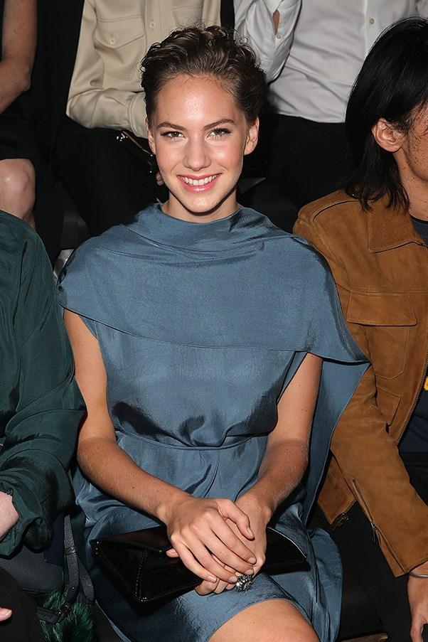 Emma Ferrer front row at Lanvin