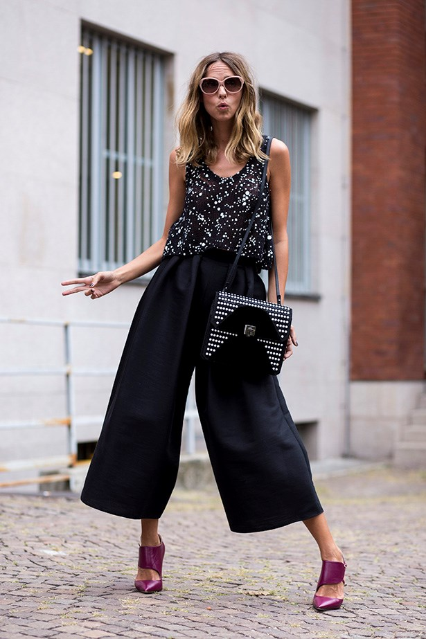 "<strong>2. Tailor it</strong> <em>""This season (and next) is all about the wide leg cropped pant.  Opt for a neutral pair and watch them fall effortlessly into your wardrobe.</em>"