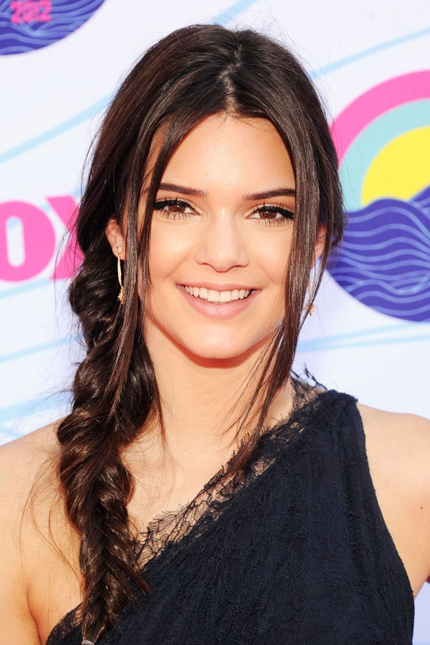 Kendall looked effortless with a low side-swept braid and nude lipstick in 2012.