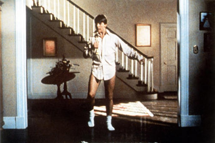 "Tom Cruise shows us his moves in the 1983 film <em>Risky Business</em> <br><br> Image courtesy of <a href=""https://www.yahoo.com/movies "">Yahoo Movies</a>"