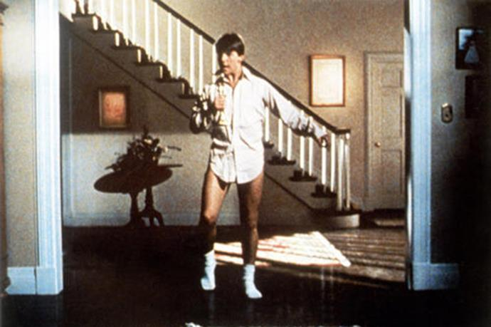 """Tom Cruise shows us his moves in the 1983 film <em>Risky Business</em> <br><br> Image courtesy of <a href=""""https://www.yahoo.com/movies """">Yahoo Movies</a>"""