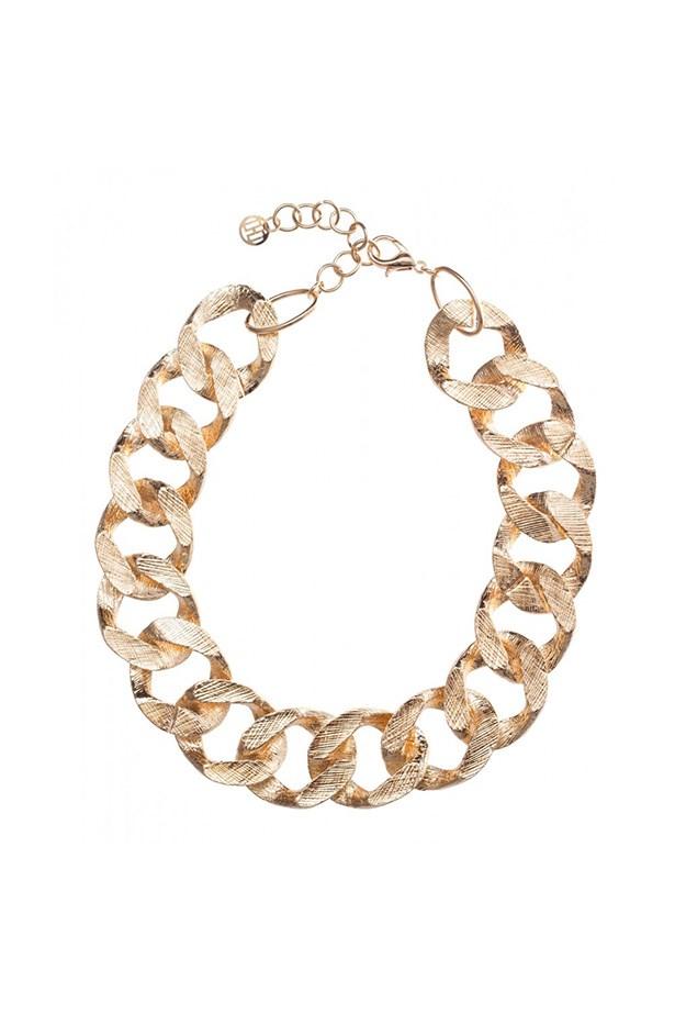 """Necklace, $19.95, Colette by Colette Hayman, <a href=""""http://www.colettehayman.com.au/shop/heavy-brushed-chain--id21896.html"""">colettehayman.com.au</a>"""