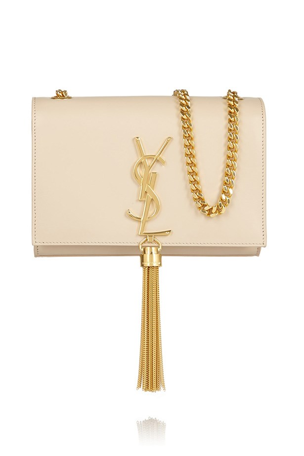 "Bag, $2600, Saint Laurent, <a href=""http://www.net-a-porter.com/product/458052/Saint_Laurent/monogramme-leather-shoulder-bag"">net-a-porter.com</a>"