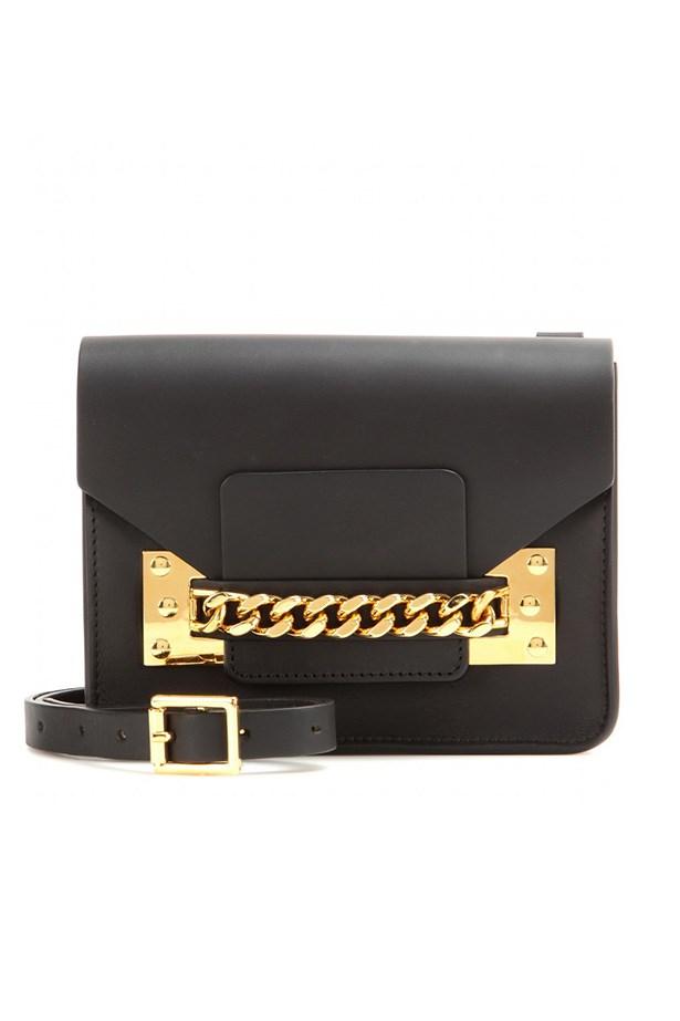 """Bag, $760, Sophie Hulme,<a href=""""http://www.mytheresa.com/en-au/soft-chain-mini-envelope-leather-shoulder-bag.html""""> mytheresa.com</a>"""