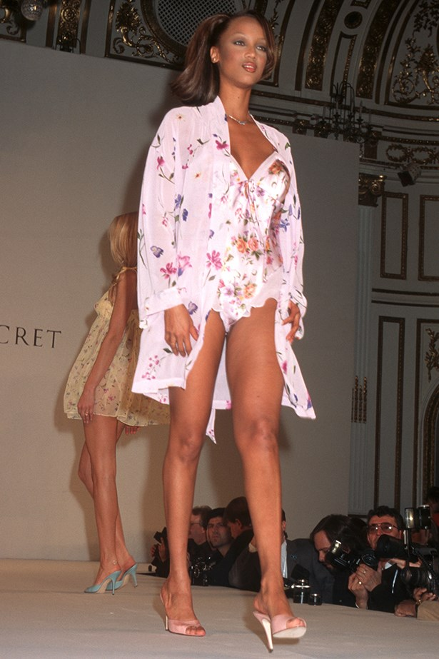 Victoria's Secret favourite, Tyra Banks, in the 1996 show