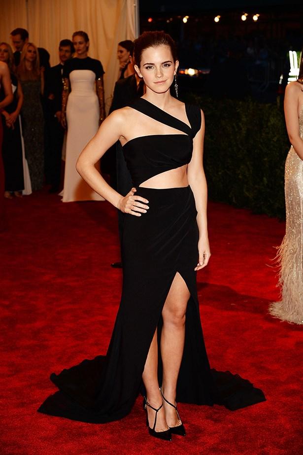 Emma Watson, wearing Prabal Gurung, at the 2013 Met Gala in New York