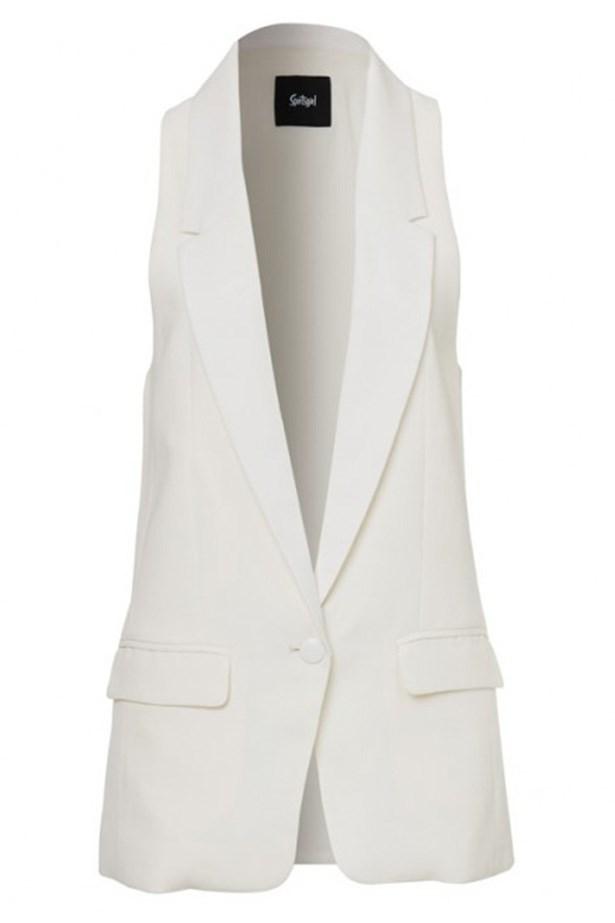 """Vest, $99.95, Sportsgirl, <a href=""""http://www.sportsgirl.com.au/tuxedo-vest-cream """">sportsgirl.com.au</a>"""