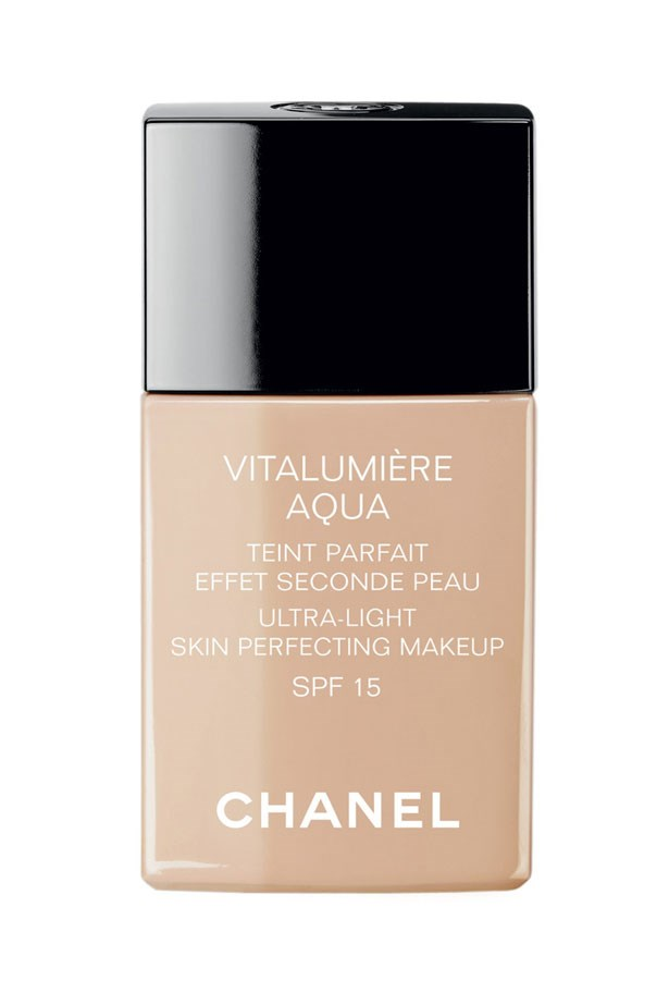 <p><strong>Base:</strong>  This ultra-light foundation evens skin tone but doesn't mask everything, letting your skin come through.</p> <em>Vitalumière Aqua, $77, Chanel, (02) 9900 2944</em>