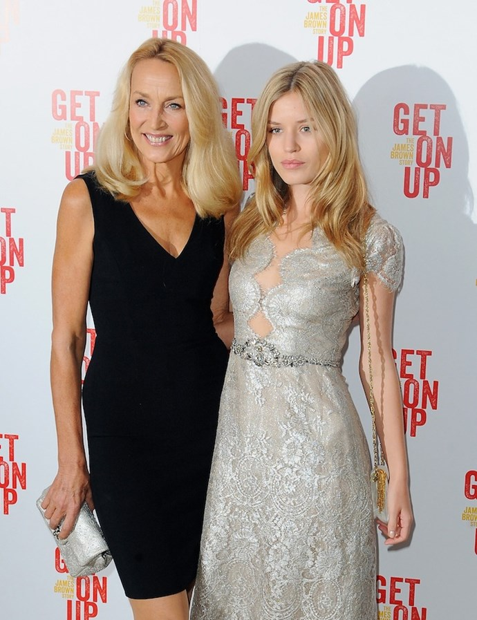 Jerry Hall and Georgia May Jagger
