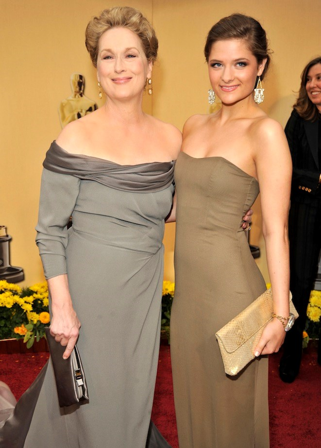Meryl Streep and Louisa Jacobson Gummer