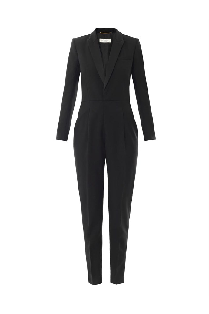 "Jumpsuit, $4,037, Saint Laurent, <a href=""http://www.matchesfashion.com/product/185204"">matchesfashion.com </a>"