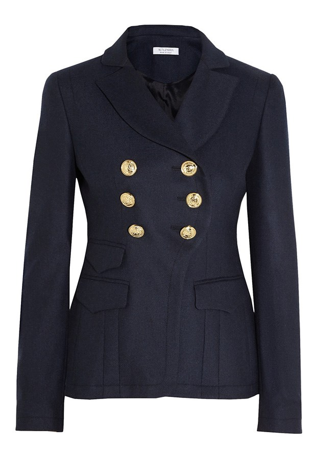 "Jacket, $1905, Altuzarra, <a href=""http://www.net-a-porter.com/product/443032/Altuzarra/seth-double-breasted-gabardine-blazer"">net-a-porter.com</a>"