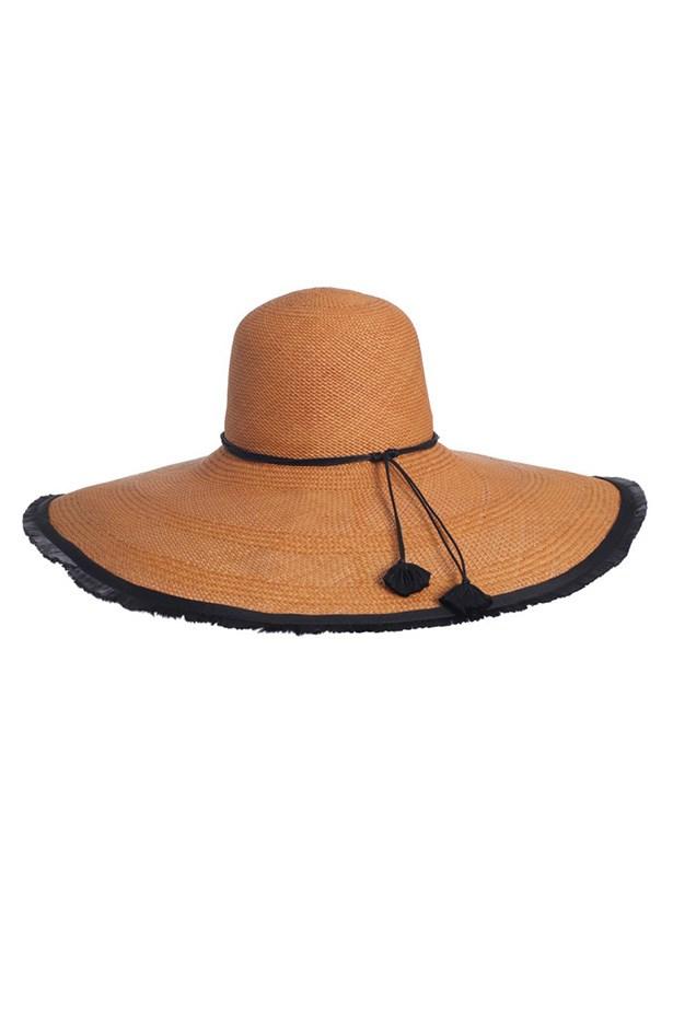 """Hat, $490, Zimmermann, <a href=""""http://www.zimmermannwear.com/readytowear/accessories-shoes-1/tobacco-panama-hat.html"""">zimmermannwear.com</a>"""