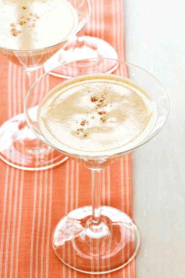 Martha Stewart egnog martini