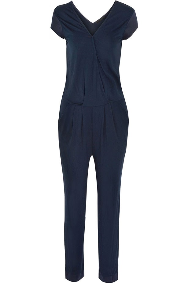 "Jumpsuit, $209, Karl Lagerfeld, <a href=""http://www.net-a-porter.com/product/457812/Karl_Lagerfeld/phylissia-stretch-jersey-jumpsuit"">net-a-porter.com</a>"