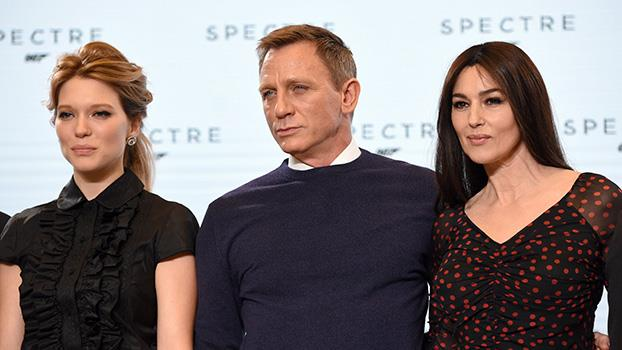 Lea Seydoux and Monica Bellucci with Daniel Craig