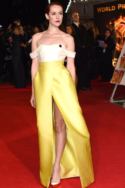 The <em>haute</em> games: Jena Malone in a bustier-style Emilia Wickstead number.