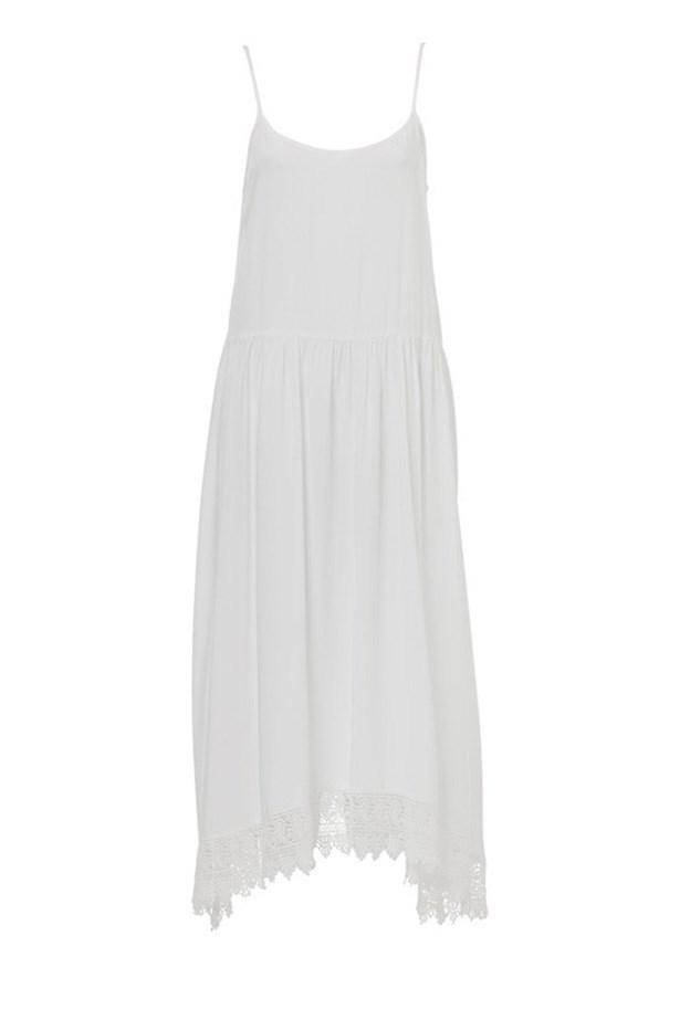 "Dress, $99.95, Sportsgirl, s<a href=""http://www.sportsgirl.com.au/clothing/dresses/lace-hem-swing-midi-white "">portsgirl,com.au </a>"