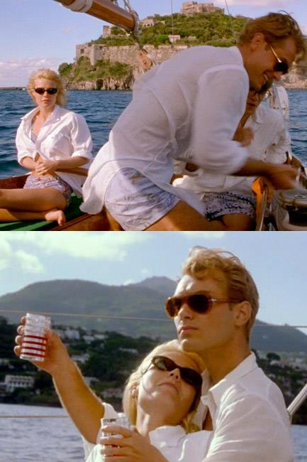 Matt Damon + Gwyneth Paltrow + Jude Law + a boat + all these sunglasses = what summertime fashion daydreams are made of. Care of <em>The Talented Mr. Ripley</em> (1999).