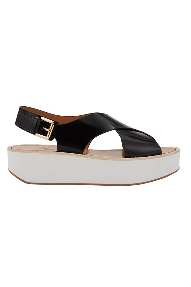 "Flatforms, $325, Flamingos, <a href=""http://www.barneys.com/Flamingos-Malabar-Flatform-Sandals/503511283,default,pd.html?utm_source=Hy3bqNL2jtQ&utm_medium=affiliate&siteID=Hy3bqNL2jtQ-pSY57s2sXxDjS_F19TEmpQ"">barneys.com</a>"