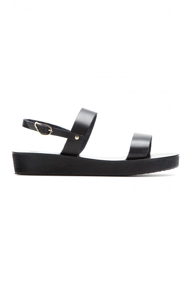 "Flatform, $255, Ancient Greek Sandals, <a href=""http://www.mytheresa.com/en-au/clio-platform-leather-sandals.html "">mytheresa.com</a>"