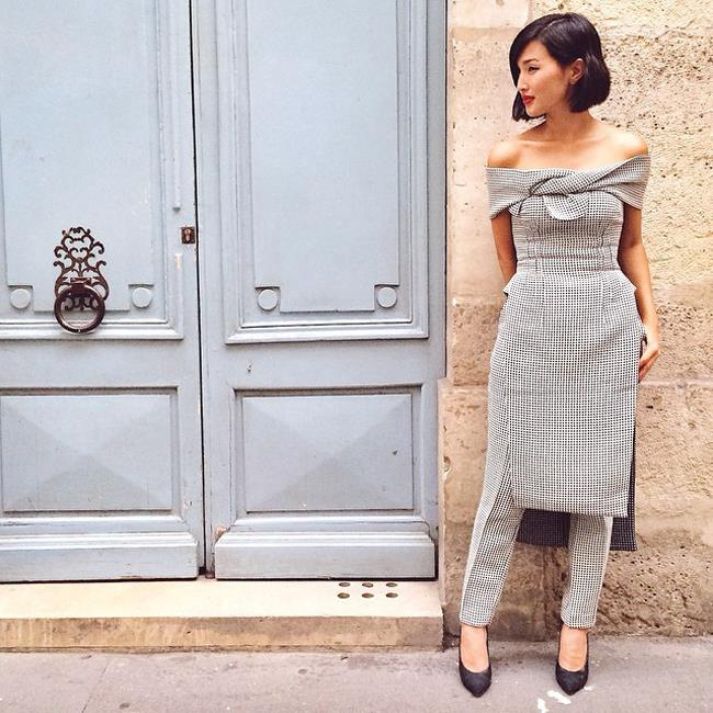 "5. Can't decide between wearing pants or a dress? The answer is: you don't have to! Make like a street-styler and wear a sweet dress over a pair of tailored pants. <br><br> Muse: Nicole Warne of Garry Pepper, <a href=""http://instagram.com/garypeppergirl"">@garrypeppergirl</a> <strong><br> <br><a href=""http://www.elle.com.au/win/ "">WIN 1 of 20 signed Lancôme Grandiôse Mascaras </a></strong></br>"