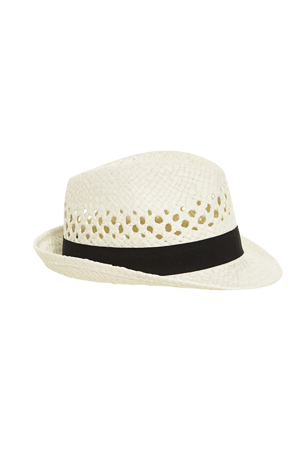 """Hat, $15, Bardot, <a href=""""http://www.bardot.com.au/Braided-Fedora.aspx?p530983&cr=015044 """">Bardot.com.au</a>"""