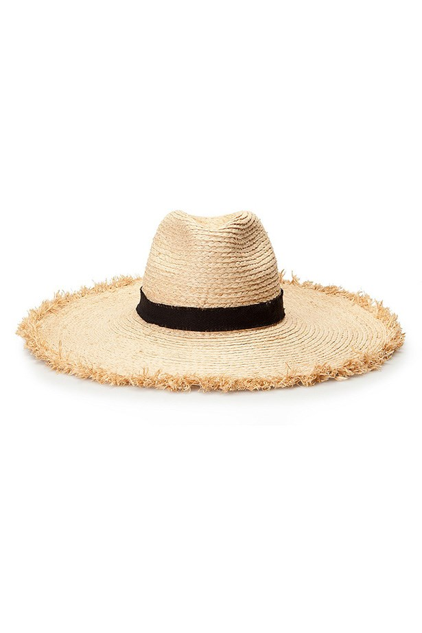 "Hat, $69.95, Country Road, <a href=""http://www.countryroad.com.au/shop/woman/accessories/hats-and-gloves/oversized-raffia-hat-60172068"">countryroad.com.au</a>"