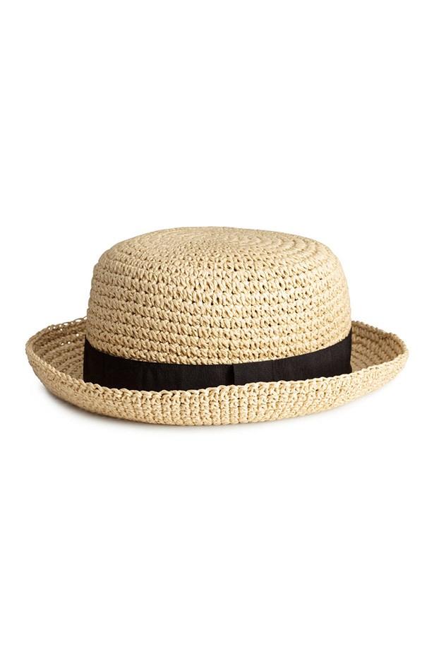 """Hat, $14.95, H&M, <a href=""""http://www.hm.com/au/product/28563?article=28563-A"""">hm.com/au</a>"""