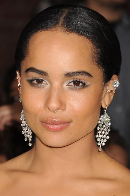 <b>A nouveau nose ring</b><br> The subtle nose ring – sitting at the base of one's nose – is the haute hipster inclusion to the list. No piercing (read: commitment!) required, costume jewellery will suffice.<br><br> <i>Zoë Kravitz</i>