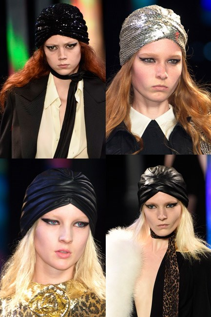 The twist-and-shout turban<br><br> <em>Saint Laurent spring/summer 2015</em>