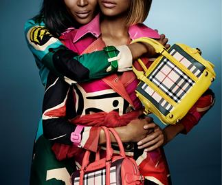 Naomi Campbell and Jourdan Dunn for Burberry