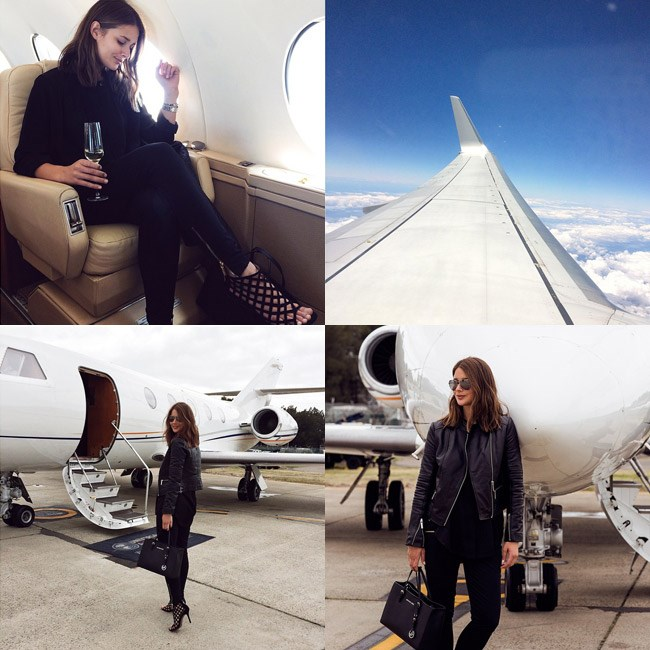 "<strong>Commandant: Thou shall be allowed one airplane snap</strong><br><br> Let people know you're up, up and away (and in first class). <br><br> <em>Muse: Sara Donaldson of Harper and Harley, jet setting around Australia, <a href=""http://instagram.com/harperandharley"">@harperandharley</a></em>"