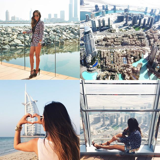 """<strong>Commandant: Thou shall cover the vistas</strong><br><br> Because everyone likes to see a stunning skyline—and, literally, <em>like</em> it.<br><br> <em>Muse: Aimee Song of Song of Style, in Dubai for Michael Kors, <a href=""""http://instagram.com/songofstyle"""">@songofstyle</a></em>"""