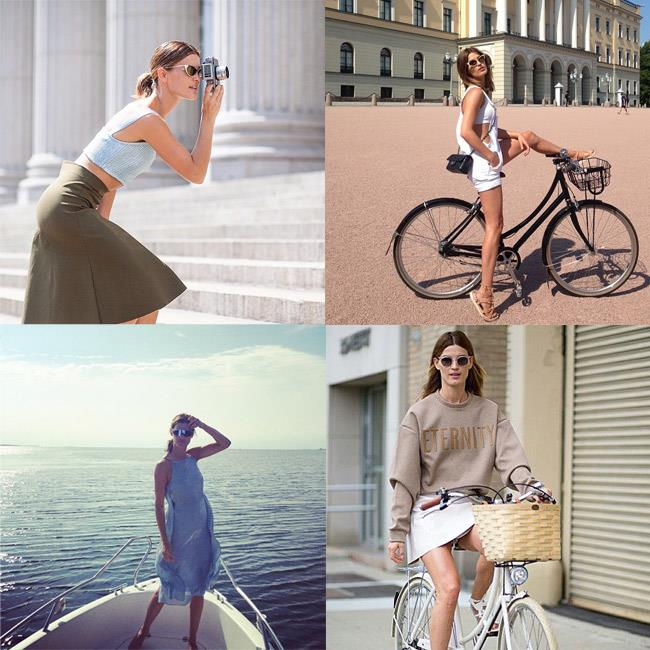 """<strong>Commandant: Thou shall get an action shot </strong><br><br> A day on a boat or a chic bike pic always gets Instagram hearts turning red. <br><br> <em>Muse: Hanneli Mustaparta, in and around Europe, <a href=""""http://instagram.com/hannelim"""">@hannelim</a></em>"""