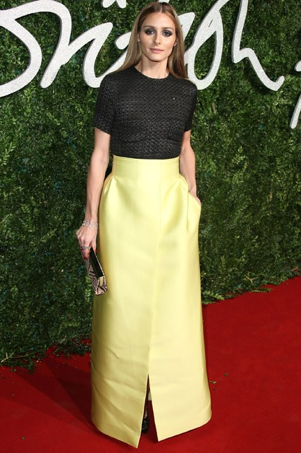 Queen of the red carpet (pocket!) pose and looking chic in separates, Olivia Palermo was head-turning in Emilia Wickstead.
