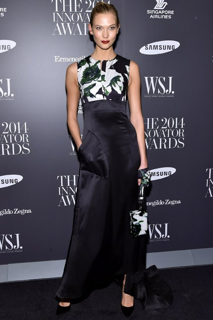 Karlie Kloss was all elegance – and some attitude thanks to pockets – in Dior.