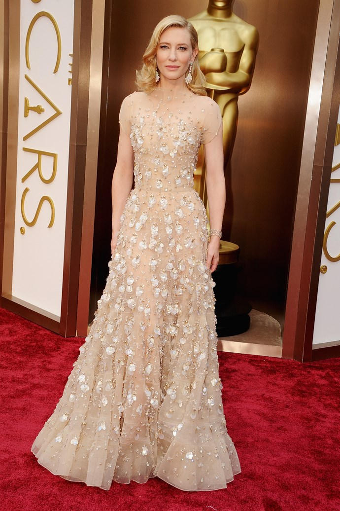 <strong>Most expensive: Cate Blanchett <br></strong> Outfit cost: 18.1 million  <br> Wearing: Armani Privé and Chopard jewellery<br> Where: Oscars 2014 <br>