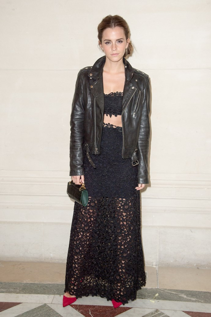 <strong>Best gambler: Emma Watson<br></strong> Wearing: Valentino <br> Where: Valentino's 2014 haute couture show in Paris